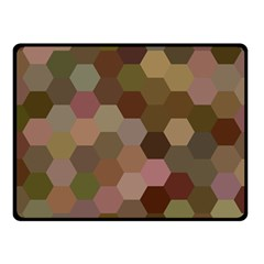 Brown Background Layout Polygon Fleece Blanket (small)