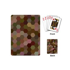 Brown Background Layout Polygon Playing Cards (mini)