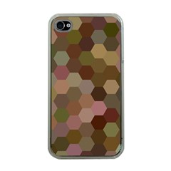 Brown Background Layout Polygon Apple Iphone 4 Case (clear)