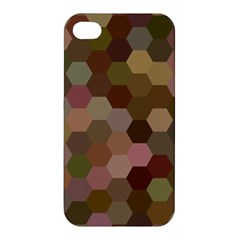 Brown Background Layout Polygon Apple Iphone 4/4s Hardshell Case