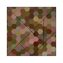Brown Background Layout Polygon Acrylic Tangram Puzzle (6  X 6 )