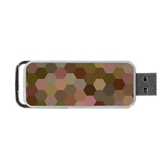 Brown Background Layout Polygon Portable Usb Flash (one Side)