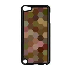 Brown Background Layout Polygon Apple Ipod Touch 5 Case (black)