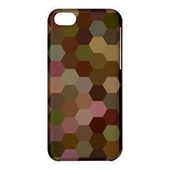 Brown Background Layout Polygon Apple Iphone 5c Hardshell Case