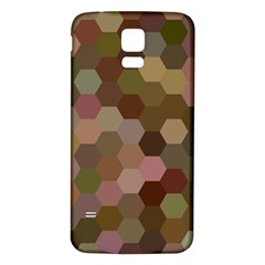 Brown Background Layout Polygon Samsung Galaxy S5 Back Case (white)