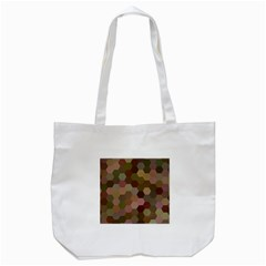 Brown Background Layout Polygon Tote Bag (white)