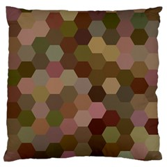 Brown Background Layout Polygon Standard Flano Cushion Case (one Side)