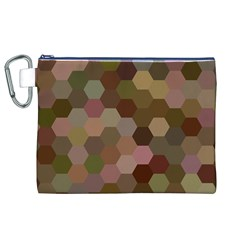 Brown Background Layout Polygon Canvas Cosmetic Bag (xl)