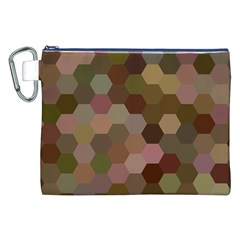 Brown Background Layout Polygon Canvas Cosmetic Bag (xxl)