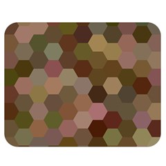 Brown Background Layout Polygon Double Sided Flano Blanket (medium)