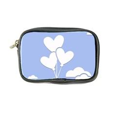 Clouds Sky Air Balloons Heart Blue Coin Purse