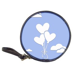 Clouds Sky Air Balloons Heart Blue Classic 20 Cd Wallets