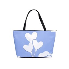 Clouds Sky Air Balloons Heart Blue Shoulder Handbags