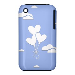Clouds Sky Air Balloons Heart Blue Iphone 3s/3gs