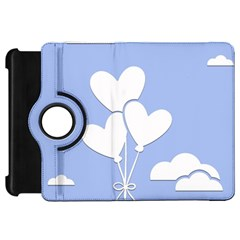 Clouds Sky Air Balloons Heart Blue Kindle Fire Hd 7