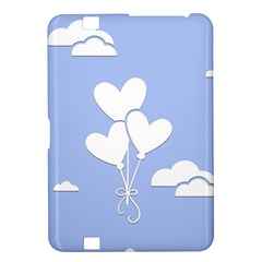 Clouds Sky Air Balloons Heart Blue Kindle Fire Hd 8 9
