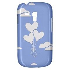 Clouds Sky Air Balloons Heart Blue Galaxy S3 Mini