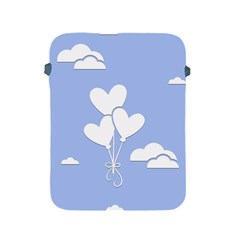 Clouds Sky Air Balloons Heart Blue Apple Ipad 2/3/4 Protective Soft Cases