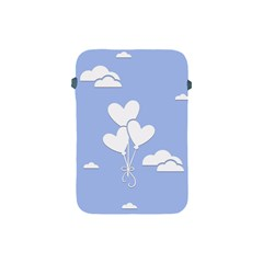 Clouds Sky Air Balloons Heart Blue Apple Ipad Mini Protective Soft Cases