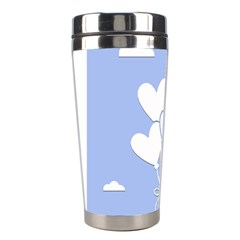 Clouds Sky Air Balloons Heart Blue Stainless Steel Travel Tumblers
