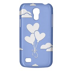 Clouds Sky Air Balloons Heart Blue Galaxy S4 Mini