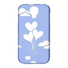 Clouds Sky Air Balloons Heart Blue Samsung Galaxy S4 Classic Hardshell Case (pc+silicone)