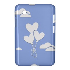 Clouds Sky Air Balloons Heart Blue Samsung Galaxy Tab 2 (7 ) P3100 Hardshell Case