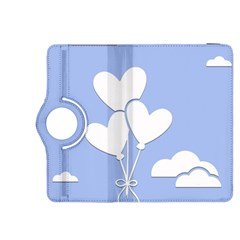 Clouds Sky Air Balloons Heart Blue Kindle Fire Hdx 8 9  Flip 360 Case