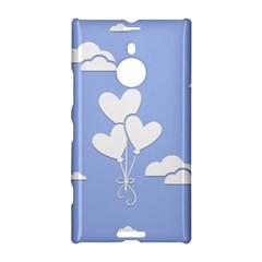 Clouds Sky Air Balloons Heart Blue Nokia Lumia 1520