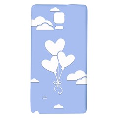 Clouds Sky Air Balloons Heart Blue Galaxy Note 4 Back Case