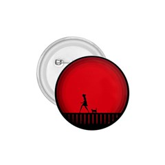 Girl Cat Scary Red Animal Pet 1 75  Buttons