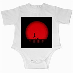 Girl Cat Scary Red Animal Pet Infant Creepers