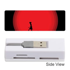 Girl Cat Scary Red Animal Pet Memory Card Reader (stick)