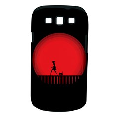 Girl Cat Scary Red Animal Pet Samsung Galaxy S Iii Classic Hardshell Case (pc+silicone)