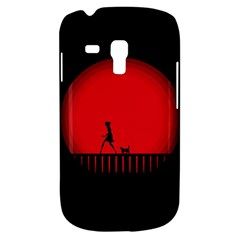 Girl Cat Scary Red Animal Pet Galaxy S3 Mini