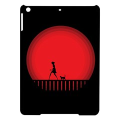 Girl Cat Scary Red Animal Pet Ipad Air Hardshell Cases