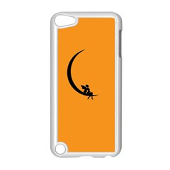 Angle Moon Scene Girl Wings Black Apple Ipod Touch 5 Case (white)