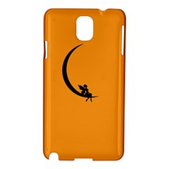 Angle Moon Scene Girl Wings Black Samsung Galaxy Note 3 N9005 Hardshell Case