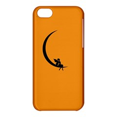 Angle Moon Scene Girl Wings Black Apple Iphone 5c Hardshell Case