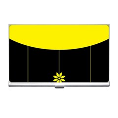 Flower Land Yellow Black Design Business Card Holders