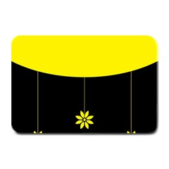 Flower Land Yellow Black Design Plate Mats