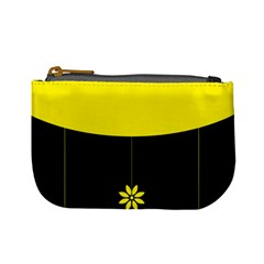 Flower Land Yellow Black Design Mini Coin Purses