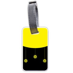 Flower Land Yellow Black Design Luggage Tags (two Sides)