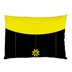 Flower Land Yellow Black Design Pillow Case (two Sides)