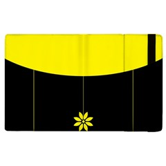 Flower Land Yellow Black Design Apple Ipad 2 Flip Case