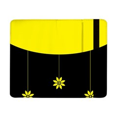 Flower Land Yellow Black Design Samsung Galaxy Tab Pro 8 4  Flip Case