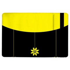 Flower Land Yellow Black Design Ipad Air Flip