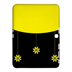 Flower Land Yellow Black Design Samsung Galaxy Tab 4 (10 1 ) Hardshell Case