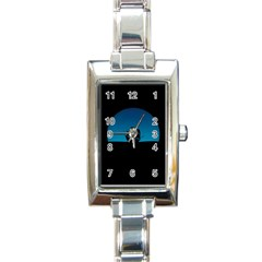 Ship Night Sailing Water Sea Sky Rectangle Italian Charm Watch