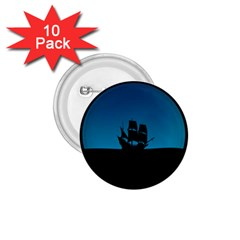 Ship Night Sailing Water Sea Sky 1 75  Buttons (10 Pack)